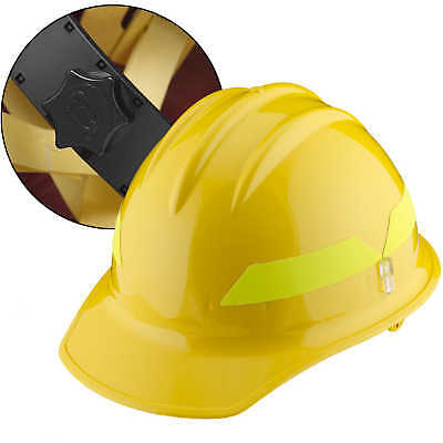 Yellow Cap Bullard Wildland Fire Helmet With Ratchet Suspension