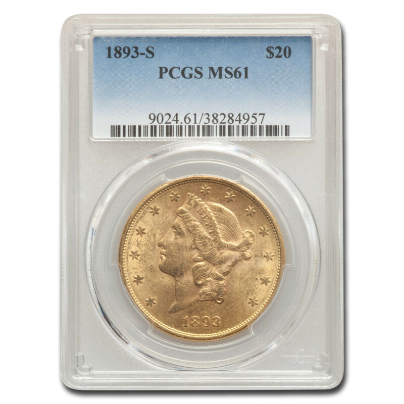 1893-S $20 Liberty Gold Double Eagle MS-61 PCGS - SKU#157407