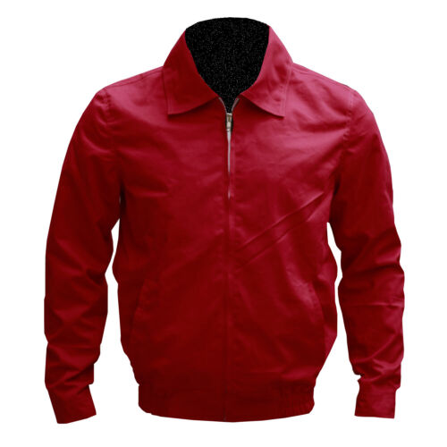 REBEL WITHOUT A CAUSE JACKET JAMES DEAN COTTON RED HARRINGTON JACKET ALL SIZES