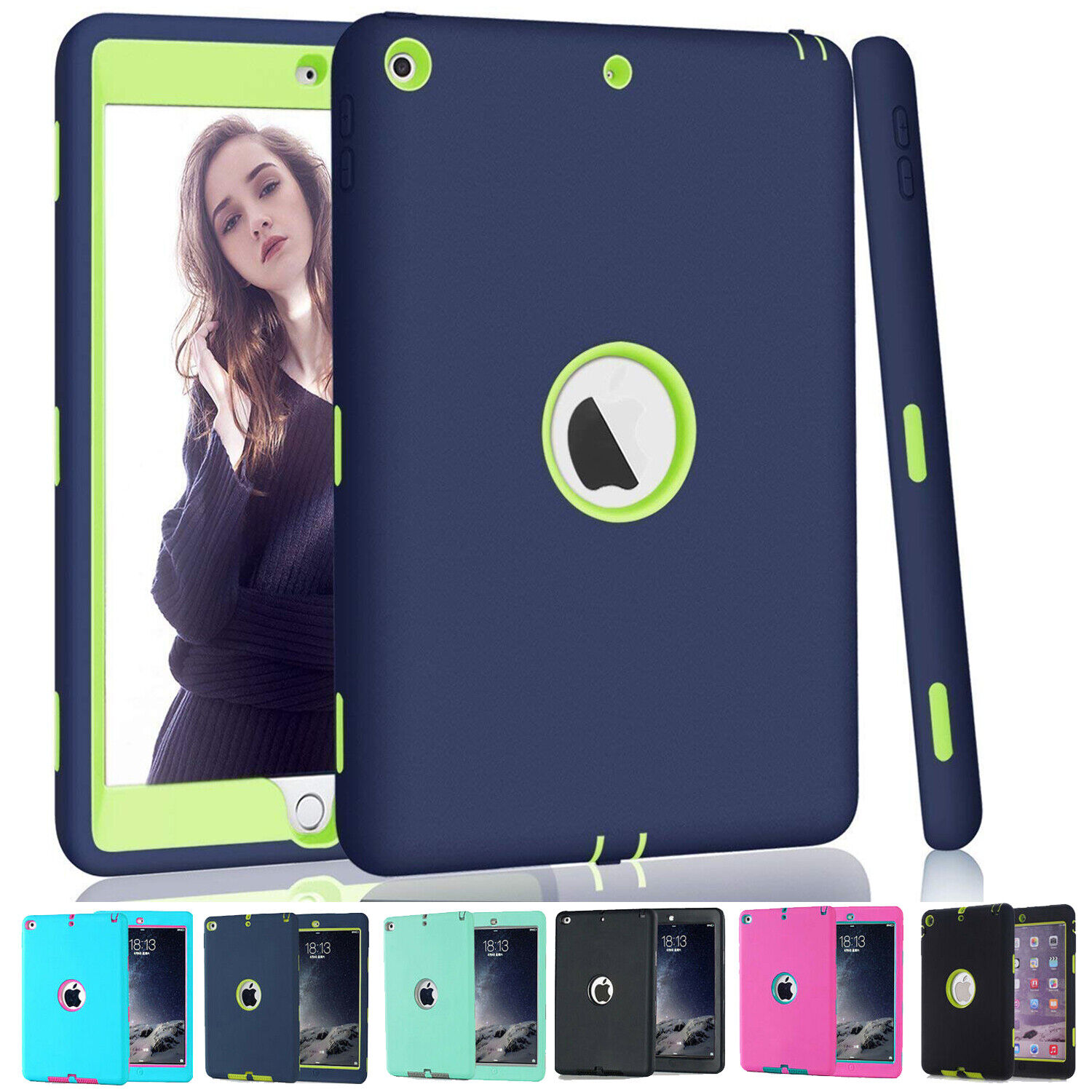 Heavy Duty Kids Case For iPad 9.7 6th Gen 2018 /2017 Pro 9.7