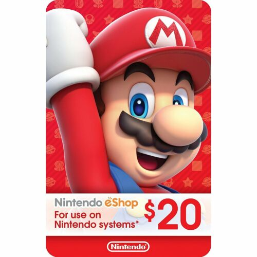 Nintendo eShop gift card $20 USD Switch 3DS WiiU