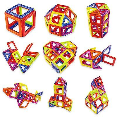 52 Pcs Magnetic Toys Similar Magformers Construction Building Blocks Fancy Toys