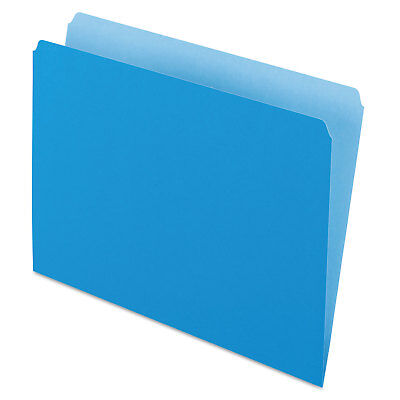 Pendaflex Colored File Folders Straight Cut Top Tab Letter Bluelight Blue 100