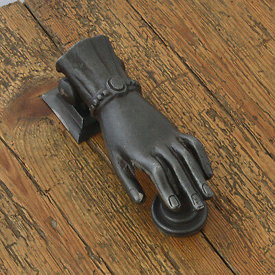 Hand & Ball Black Iron Door Knocker
