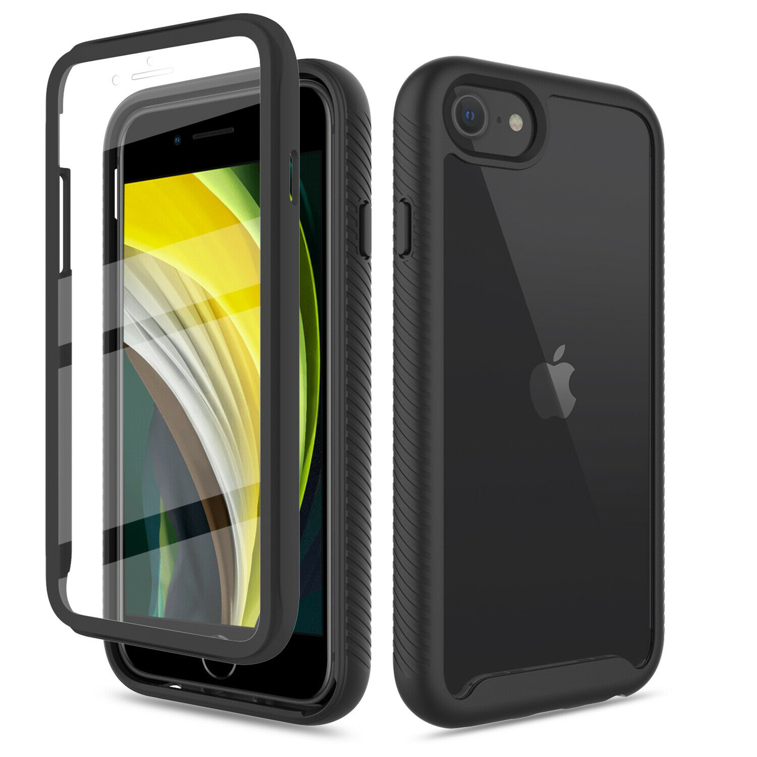 For iPhone SE (2020)/7/8 Hybrid Case Clear Cover With Built-in Screen Protector Cases, Covers & Skins