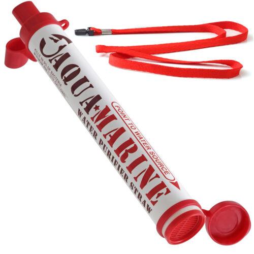 AquaMarine Purifier Straw Water Filter Personal  Survival Ki
