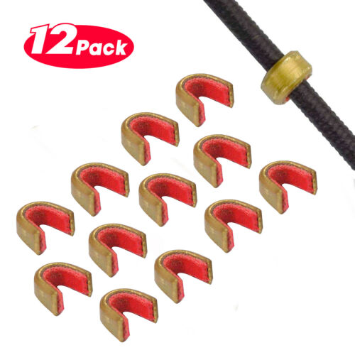 Bow string Nock Nocking Points – Brass Nocks Archery Accessories (Pack of 12)