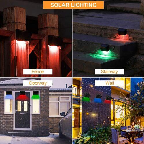 New Solar Rgb Lights Color Glow Waterproof Outdoor Landscape Lighting 6 Pack