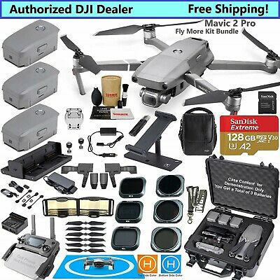 DJI Mavic 2 PRO Drone Quadcopter Fly More Kit Bundle Must Have Accessories
