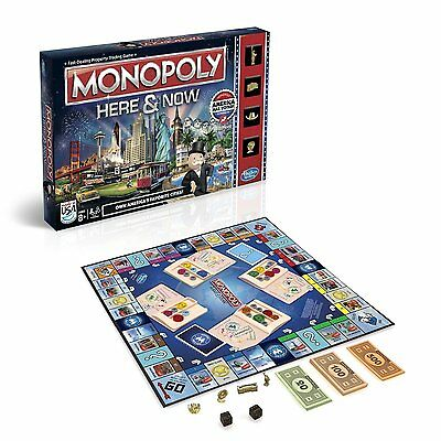 Best Family Board Games for families Monopoly Here and Now US Edition New Movers