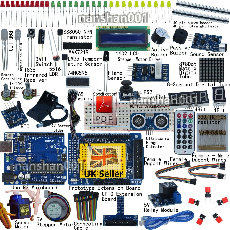 Professional uno r starter kit for arduino servo lcd