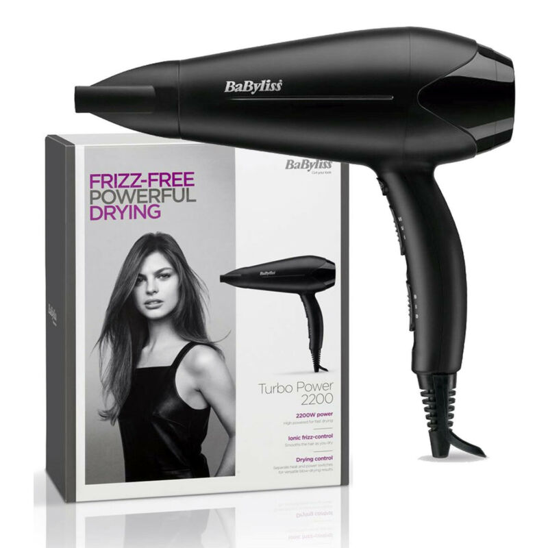 Details about BaByliss 5563U Turbo Power Hair Dryer With 3 Heat & 2 Speed Settings 2200W