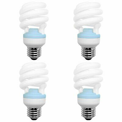 GE Reveal 20W CFL T2 Spiral Bulb 1200lm 2500K Damp Rated UL Listed 4-Pack Ge Reveal Cfl