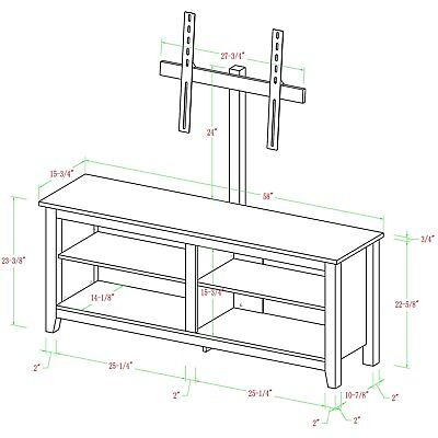 """Wood Corner TV Stand with Mount for TVs up to 60"""", Multiple"""