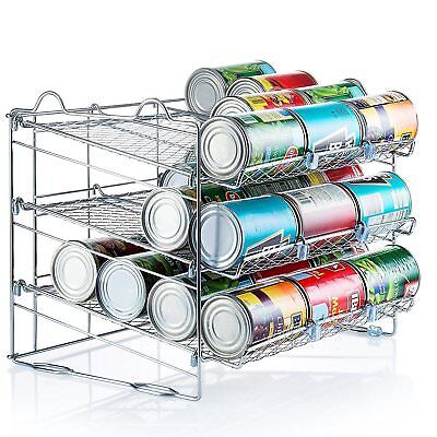 Saganizer Chrome Stackable Can Organizer, Can Rack Holds up to 36 Cans,