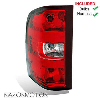 2007-2013 Driver Replacement Tail Light For Chevy Silverado w/Bulb and Harness