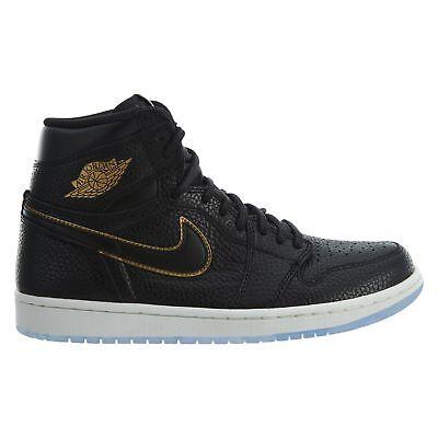 Nike Air Jordan 1 Retro High OG LA Mens 555088-031 Black Gold Shoes Size 10.5