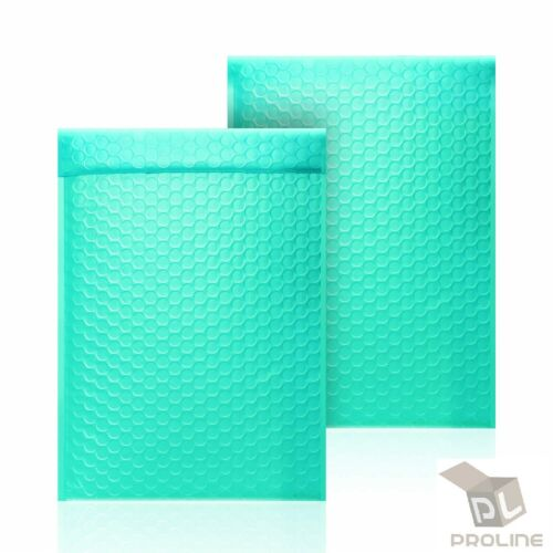 500 #0 Teal Poly Bubble Padded Envelopes Self-Sealing Mailers 6X10 (Inner 6x9)