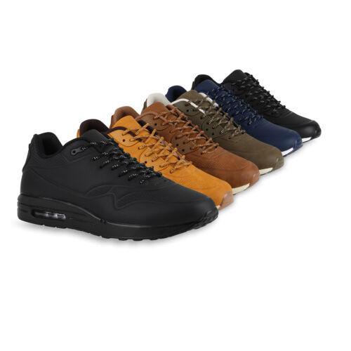 Details zu Herren Sportschuhe Leder Optik Sneakers Runners Laufschuhe 816856 Schuhe