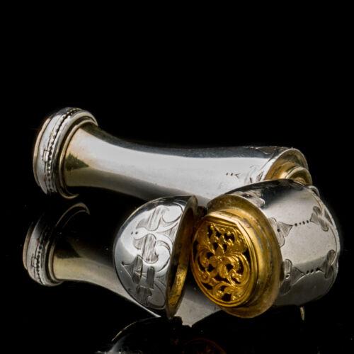 Victorian Combination Scent Bottle Vinaigrette Locket Jenner & Knewstub England