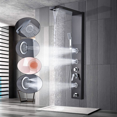 Stainless Steel Shower Panel Tower Massage Body Jet System Rain&Waterfall Spray