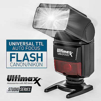 I-TTL Speedlite Flash for Nikon D7500 D7200 D5600 D5500 D5300 D3400 by ULTIMAXX®