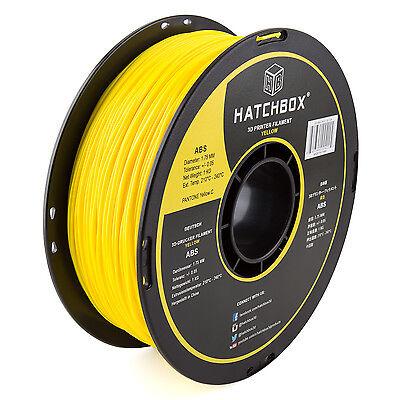 HATCHBOX 1KG 1.75mm 3D Printer ABS Filament In Yellow