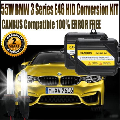 BMW 3 Series E46 HID Xenon Lights Conversion Kit Canbus Error Free H7 8000K