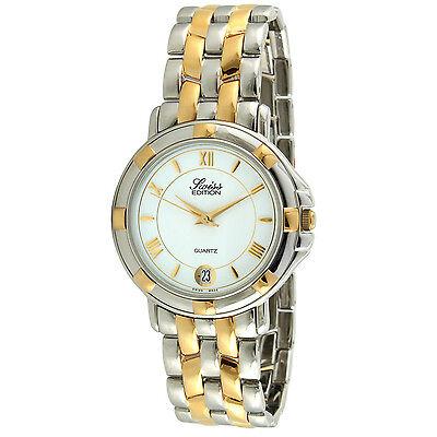 $139.99 - Men's Two-Tone Round Silver and Gold Tone Dress Luxury Swiss Quartz Watch