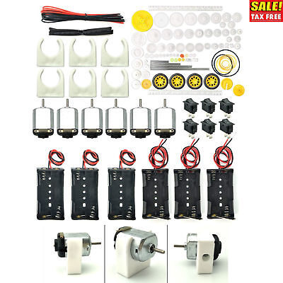 6 Set Dc Motor Hobby Electric Motors Small Mini Diy 1.5v-3v Batteries 24000rpm