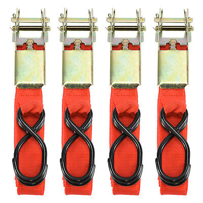 """4pc 1"""" x 15ft Ratchet Tie Down 