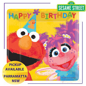 SESAME-STREET-1ST-BIRTHDAY-PARTY-SUPPLIES-18-SMALL-PLATES-ELMO-ABBY-CADABBY