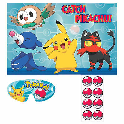 POKEMON Sun and Moon PARTY GAME POSTER ~ Birthday Party Supplies Pikachu Rowlet (Pokemon Party Games)