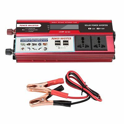 Power Inverter 4000Watt Peak DC 12V to 110V AC Car Converter Adapter Charger covid 19 (Dc Peak Power Charger coronavirus)