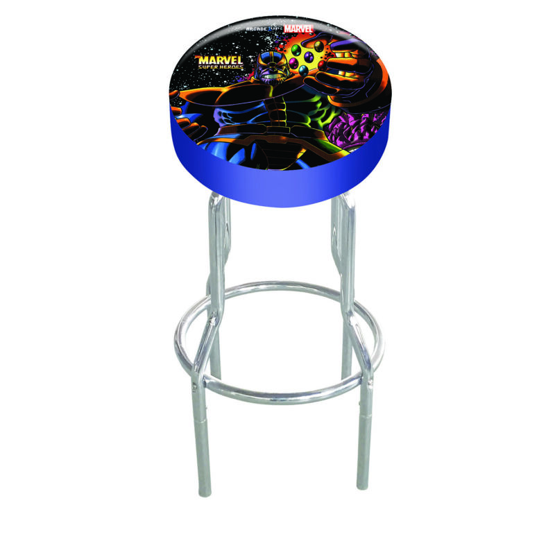 Arcade1Up Officially Licensed Marvel Superheroes Adjustable Arcade Stool with Ex