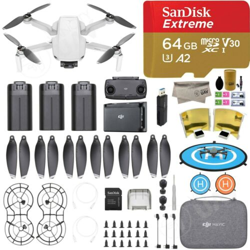 DJI Mavic Mini Fly More Combo Camera Drone 3 Batteries with 64GB SanDisk SD Card