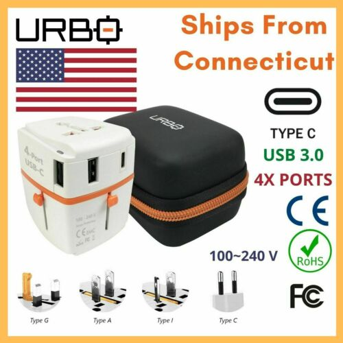 Universal Travel Adapter Wall Charger For International Plugs - USB 3.0 & Type C