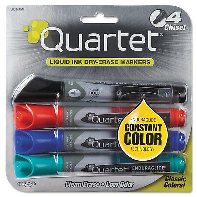 Quartet Enduraglide Dry Erase Marker Chisel Tip Assorted Colors 4set 5001m