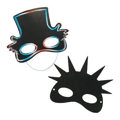 Patriotic Magic Scratch Masks (24 Pack)