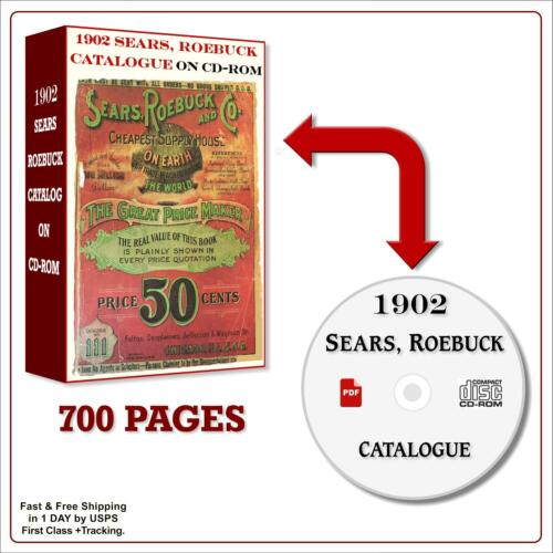 1902 SEARS Catalog in HD on CD, Vintage Antique Old SEARS ROEBUCK 1902 Catalog