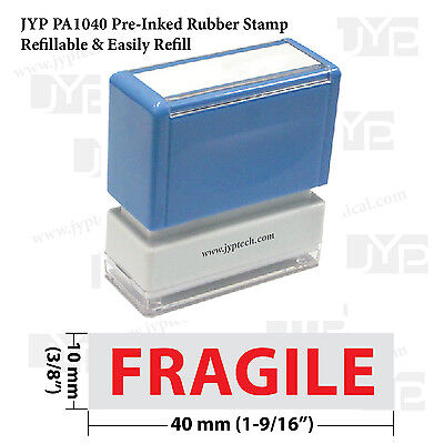 New Jyp Pa1040 Pre-inked Rubber Stamp W. Fragile