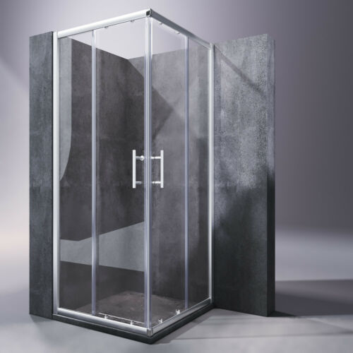 Duschkabine 80x80cm Duschabtrennung Eckdusche Schiebetür Eckeinstieg Duschtür