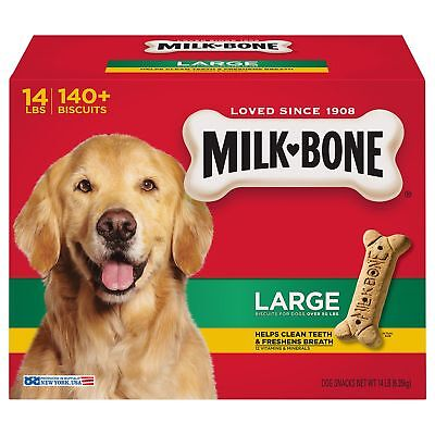 Milk-Bone Original Dog Treats for Large Dogs, 140 Buscuits New