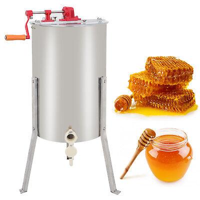 Stainless Steel 2 Frame Honey Extractor Manual Beekeeping Equipment Honeycomb