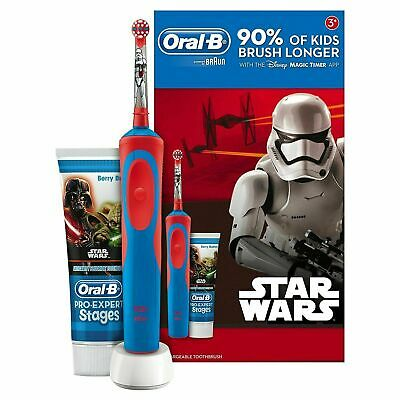 Star Wars Oral-B Stages Power Kids Electric Toothbrush and Toothpaste Gift Set