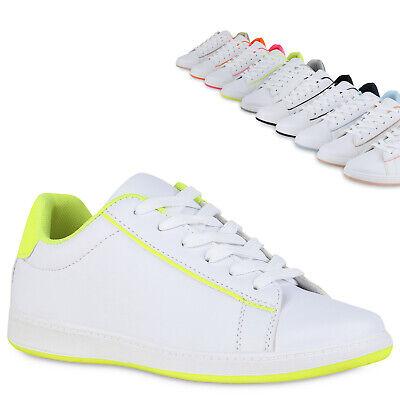 Damen Sneaker Low Turnschuhe Bequeme Freizeitschuhe Schnürer Flats 833672 Trendy