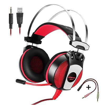 EACH GS500 Stereo Gaming Headsets Headphone for PS4 New Xbox One PC with Mic Red