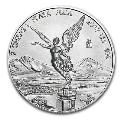 2018 Mexico 2 oz Silver Libertad BU - SKU#162407