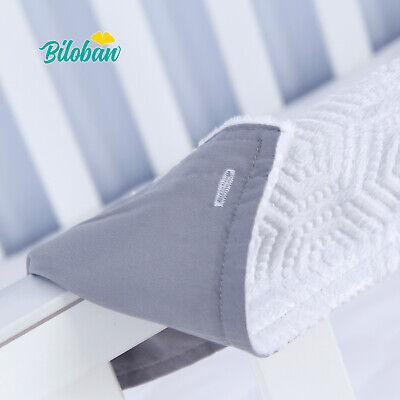Crib Wrap Rail Guard (Crib Rail Cover Safe Teething Guard Wrap for 2 Narrow Side Crib Rails)