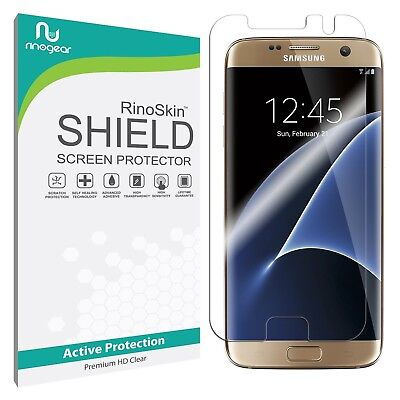 RinoGear Screen Protector for Samsung Galaxy S7 Edge (Physical Clear Shield)